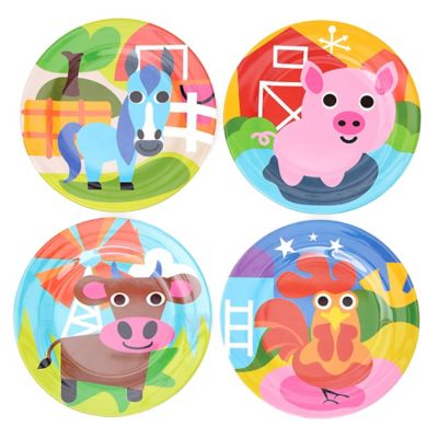 French Bull® Farm Kids Round Plates (Set of 4)  sc 1 st  Bed Bath \u0026 Beyond & Buy Baby Plate Sets from Bed Bath \u0026 Beyond