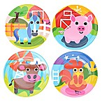 French Bull® Farm Kids Round Plates (Set of 4)