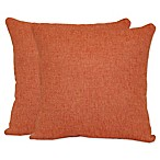 Jasper Square Throw Pillows in Coral (Set of 2)