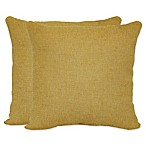 Jasper Square Throw Pillows in Yellow (Set of 2)