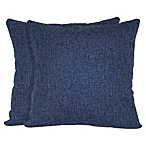 Jasper Square Throw Pillows in Navy (Set of 2)