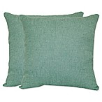 Jasper Square Throw Pillows in Aqua (Set of 2)