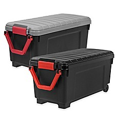 Superieur IRISu0026reg; Store It All 169 Qt. Rolling Storage Tote Collection In Black
