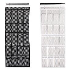 Home Basics® Blossom Metallic 20 Pocket Over The Door Shoe Organizer