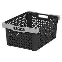 IRIS® Medium Decorative Storage Baskets in Black (Set of 2)