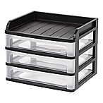 IRIS® Medium Desktop Drawer Systems in Black (Set of 2)