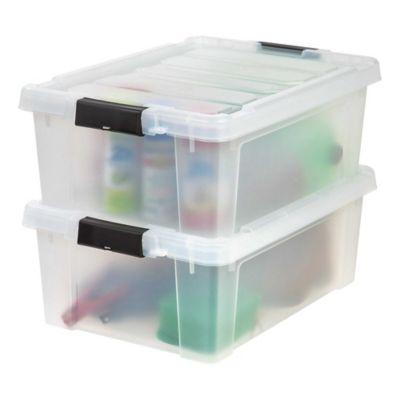IRIS Store It All 10 Gallon Heavy Duty Storage Totes Set of 2