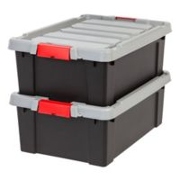 IRIS® Store-It-All 10-Gallon Heavy Duty Storage Totes in Black (Set of 2)