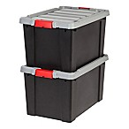 IRIS® Store-It-All 18-Gallon Heavy Duty Storage Totes in Black (Set of 2)