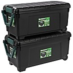 IRIS® Remington® 169 qt. Store-It-All Rolling Storage Totes in Black (Set of 2)