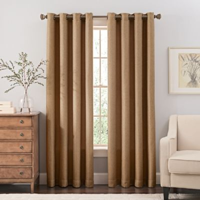 reina 120inch grommet top window curtain panel in sand