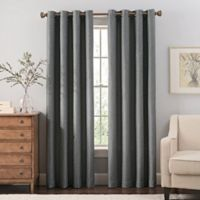 Reina 108-Inch Grommet Top Window Curtain Panel in Steel Grey