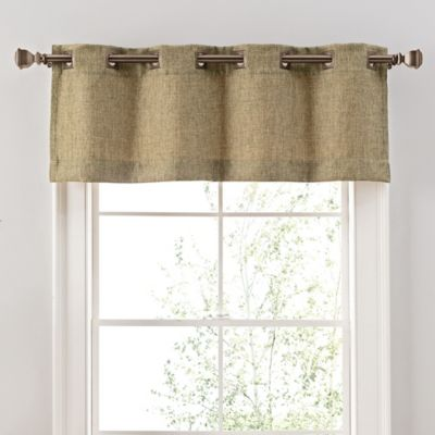 reina window valance in green