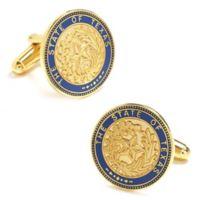 Cufflinks, Inc. Goldtone State of Texas Seal Cufflinks