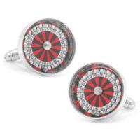 Cufflinks, Inc. Silver-Plated and Enamel Roulette Wheel Cufflinks