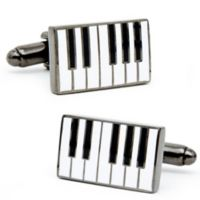 Cufflinks, Inc. Silver-Plated and Enamel Piano Cufflinks
