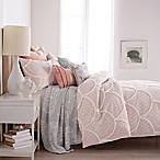 Peri Chenille Scallop Twin Comforter Set in Blush