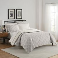 Simmons® Fremont Reversible King Comforter Set in Taupe