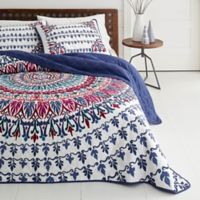 Azalea Skye® Hanna Medallion Reversible King Quilt Set in Navy