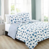 Great Bay Home Bali Full/Queen Quilt Set in Blue