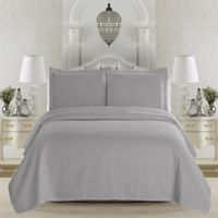 Great Bay Home Emerson Full/Queen Quilt Set in Pewter