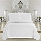 Great Bay Home Emerson Twin Quilt Set in White