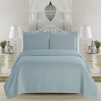 Great Bay Home Emerson Twin Quilt Set in Cloud Blue