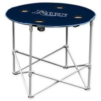 Tampa Bay Rays Round Collapsible Table in Navy