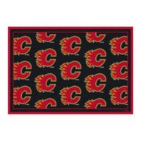 NHL Calgary Flames Repeat 2-Foot 1-Inch x 7-Foot 8-Inch Area Rug