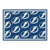 NHL Tampa Bay Lightning 2-Foot 1-Inch x 7-Foot 8-Inch Repeat Rug