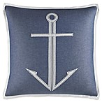 Nautica® Trawler Anchor Throw Pillow in Medium Blue