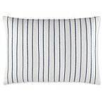 Nautica® Trawler Embroidered Stripe Throw Pillow in Ivory