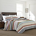 Eddie Bauer® Salmon Ladder Stripe Full/Queen Quilt Set in Blue