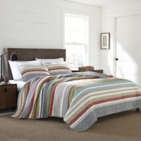 Eddie Bauer® Salmon Ladder Stripe King Quilt Set in Blue
