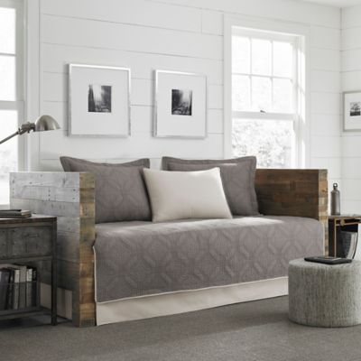 eddie bauer axis quilted daybed set in grey