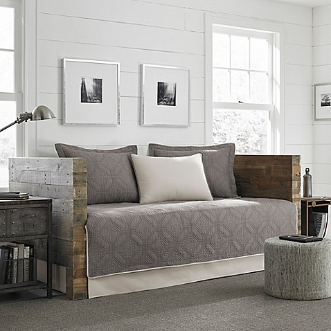 Ed Bauer Axis Quilted Daybed Set In Grey