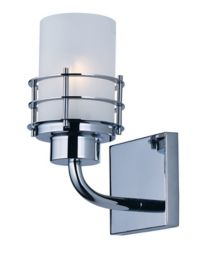 Maxim Lighting Tier 1-Light Wall-Mount Bath Fixture in Polished Chrome