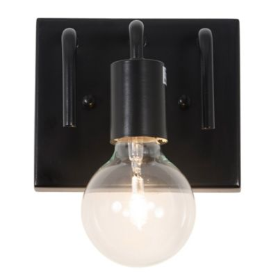 Varaluz Socket-To-Me 1-Light Wall Mount Bath Fixture in Black - Bed Bath & Beyond