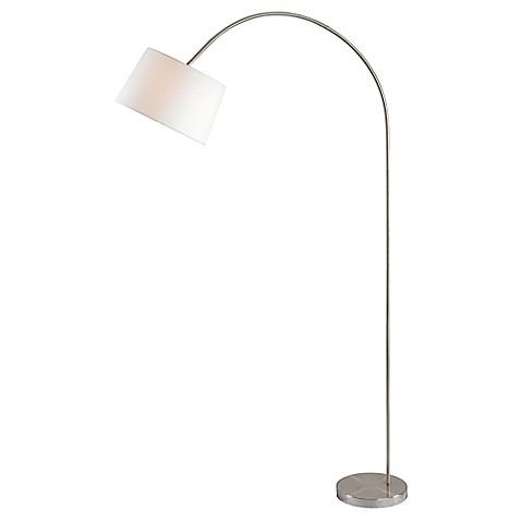 Kenroy home triumph arc floor lamp in brushed steel