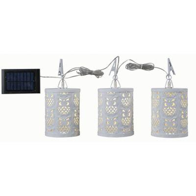 Kenroy Home Megellan 3 Light Solar LED Umbrella Light In White