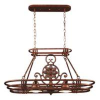Kenroy Home Dorada 2-Light Pot Rack in Copper