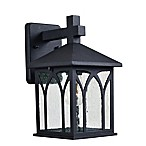Kenroy Home Canterbury Outdoor 1-Light Wall Lantern in Black