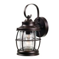 Kenroy Home Sidelight 1-Light Outdoor Wall Mount Lantern in Oil Rubbed Bronze