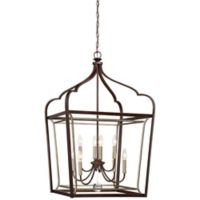 Minka-Lavery® Astrapia 8-Light Pendant Ceiling Light in Dark Rubbed Sienna with Aged Silver