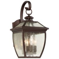 Minka-Lavery® Sunnybrook 4-Light Wall Mount Outdoor Lantern in Alder Bronze