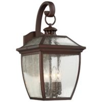 Minka-Lavery® Sunnybrook Wall-Mount Outdoor Lantern in Alder Bronze