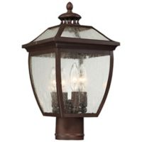 Minka-Lavery® Sunnybrook 4-Light Post-Mount Outdoor Lantern in Alder Bronze