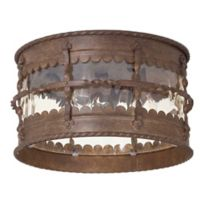The Great Outdoors® by Minka-Lavery® Mallorca 3-Light Outdoor Lantern in Rust