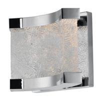 Maxim Lighting Curl LED 2-Light Wall Mount Vanity Light in Polished Chrome with Glass Shade