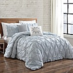 Brooklyn Loom Jackson Pleated King Duvet Set in Spa
